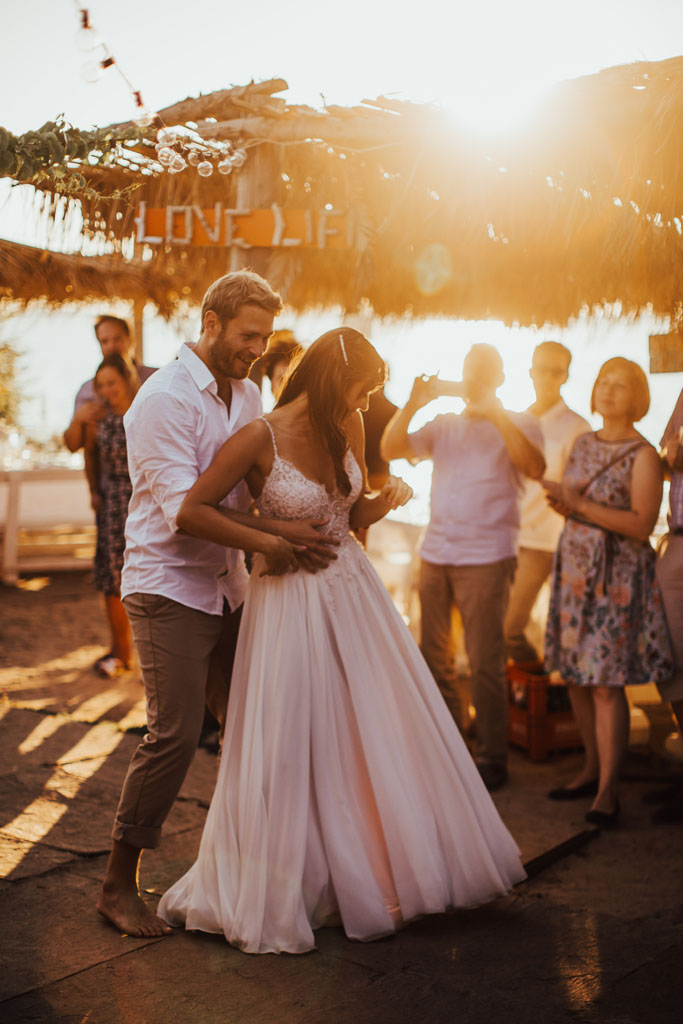 Summer beach wedding on beautiful Croatian island Levan