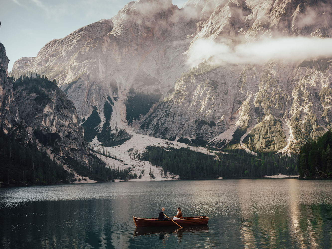 Wedding Elopement on Lago Di Braies – Pragser Wildsee & Passo Giau